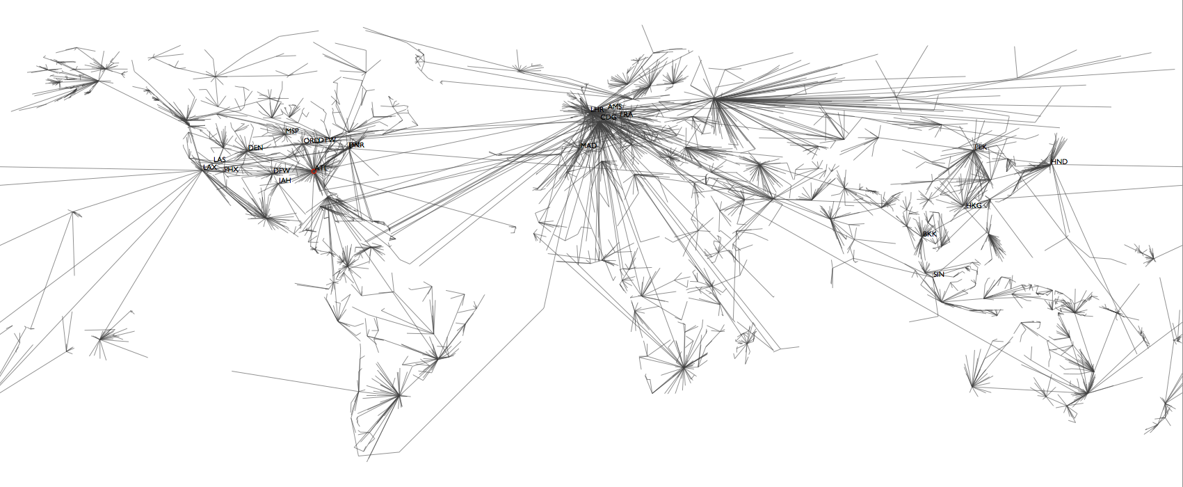 Shortest Path Tree Analysis Reveals And Quantifies The Effect Of Airport Closures On Global Traffic